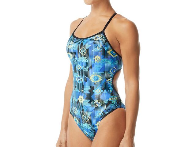 TYR Azoic Trinityfit Swimsuit Women, blue/multi